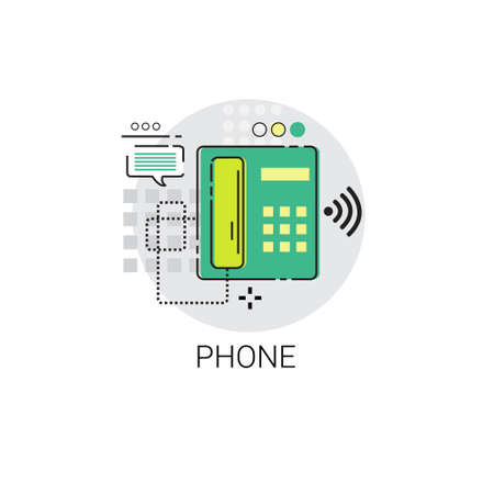 receiver: Phone Receiver Call Telephone Icon Vector Illustration
