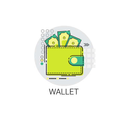 money wallet: Money Wallet Icon Business Investment Online Banking Vector Illustration