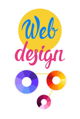 a creator: Graphic Web Design Creative Banner Flat Vector Illustration