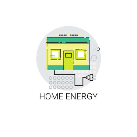 green power: Energy Home Power Save Invention Green Ecology Vector Illustration
