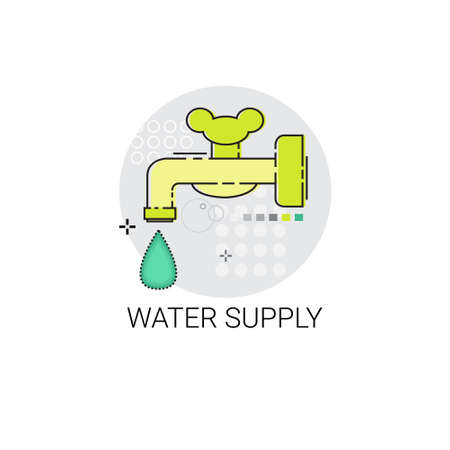 water supply: Water Supply Energy Efficiency Power Save Invention Vector Illustration Illustration
