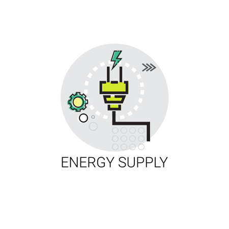invention: Energy Supply Power Invention Icon Vector Illustration