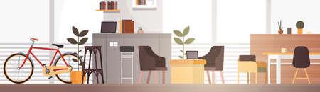 Kreative Office Co-Arbeitszentrum Universität Campus modernen Arbeitsplatz Wohnung Vector Illustration