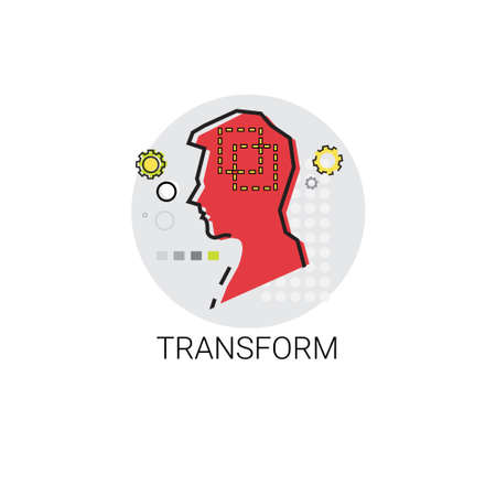 perception: Transfrom Perception Human Profile Icon Illustration Stock Photo