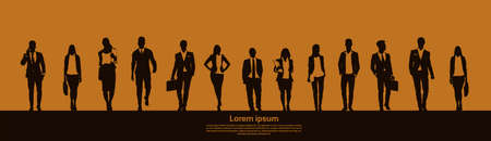 Businesspeople Group Team Teamwork Business Plan Concept Startup Development  Illustration Çizim