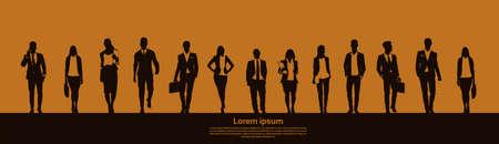 Businesspeople Group Team Teamwork Business Plan Concept Startup Development  Illustration Vettoriali