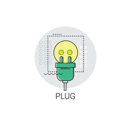 Plug Internet Connection Electricity Energy Icon Illustration