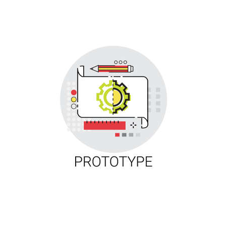Prototyping Innovation Building Creation Icon Illustration