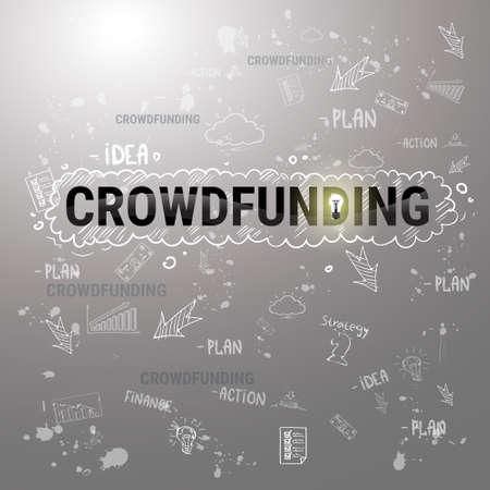 investor: Investment Money Collective Investor Crowd Funding Web Banner Flat Illustration Illustration