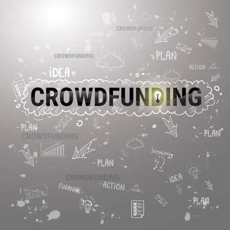 Investment Money Collective Investor Crowd Funding Web Banner Flat Illustration Illustration