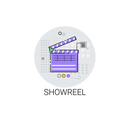 showreel: Showreel Correction Camera Film Production Industry Icon Vector Illustration