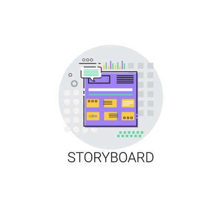 showreel: Story Board Camera Film Production Industry Icon Vector Illustration