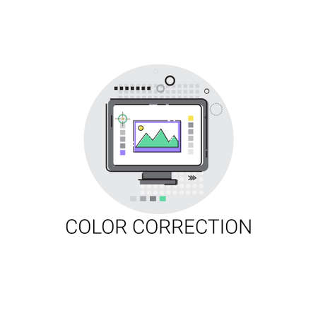 showreel: Color Correction Camera Film Production Industry Icon Vector Illustration