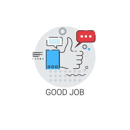 Goede Job Waardering Bedrijfsevaluatie Icon Vector Illustratie
