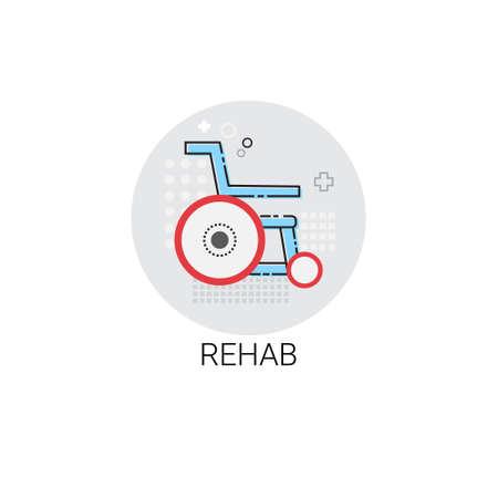 Rehab Hospital Doctors Clinic Medical Treatment Icon Vector Illustration