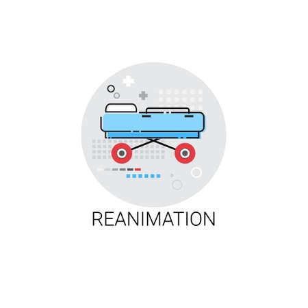 medical treatment: Reanimation Hospital Doctors Clinic Medical Treatment Icon Vector Illustration Illustration