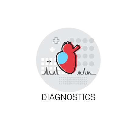 medical treatment: Diagnostics Hospital Doctors Clinic Medical Treatment Icon Vector Illustration Illustration