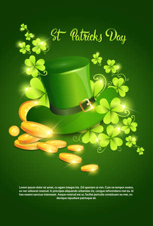 Happy Patrick Day Festival Beer Holiday Poster Fest Flat Vector Illustration Illustration