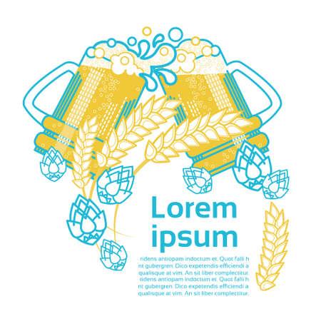 Saint Patrick Day Beer Festival Banner Greeting Card Vector Illustration