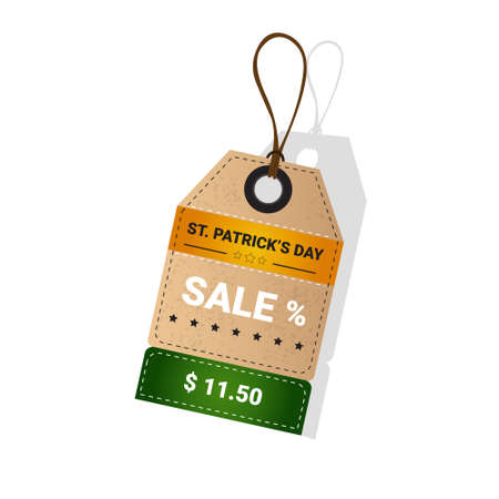 Saint Patrick Day Beer Festival Special Offer Discount Sale Flat Vector Illustration