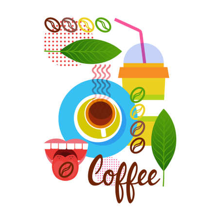 Coffee Cup Break Breakfast Drink Beverage Vector Illustration