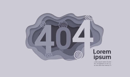 404 Not Found Problem Internet Connection Error Vector Illustration
