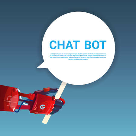 smart: Chat Bot Robot Virtual Assistance Of Website Or Mobile Applications, Artificial Intelligence Concept Flat Vector Illustration