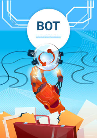 smart: Chat Bot Free Robot Virtual Assistance Of Website Or Mobile Applications, Artificial Intelligence Concept Flat Vector Illustration