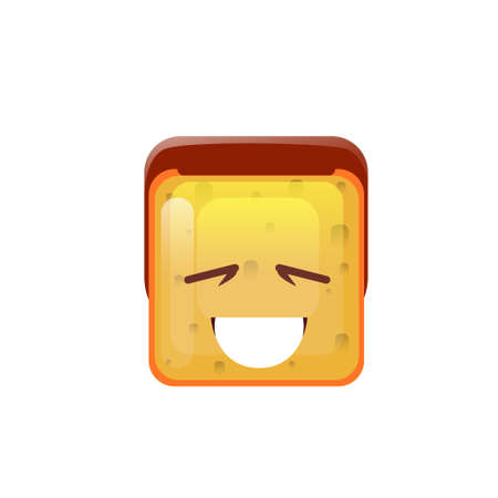 Smiling Emoticon Face With Open Mouth Illustration
