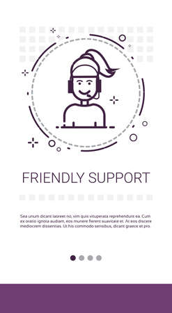 hot: Customer Consulting Support Service Banner Vector Illustration