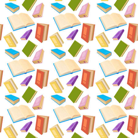 Books Reading Education Seamless PatternVector Illustration