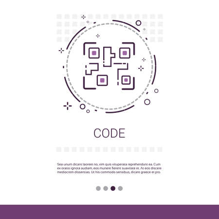optimizer: Code Software Development Computer Programming Device Technology Banner With Copy Space Vector Illustration