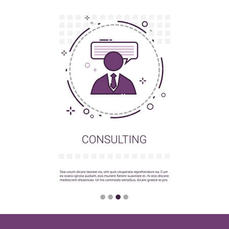 Seminar Consulting Help Business Support Web Banner Met Copy Space Vector Illustratie
