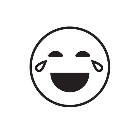 Smiling Cartoon Face Laugh Positive People Emotion Open Mouth Icon Vector Illustration Vektorové ilustrace