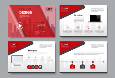 Template Design Brochure, Annual Report, Magazine, Poster, Corporate Presentation, Portfolio, Flyer Set With Copy Space Vector Illustration