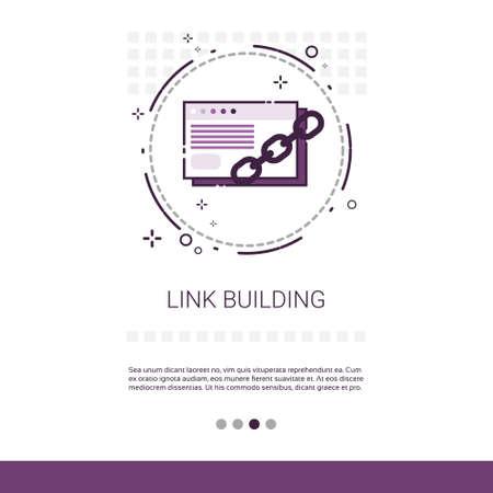 linkbuilding: Link Building Seo Keywording Search Banner With Copy Space Vector Illustration Illustration