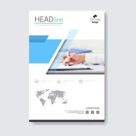 adverts: Template Design Brochure, Annual Report, Magazine, Poster, Corporate Presentation, Portfolio, Flyer With Copy Space Vector Illustration