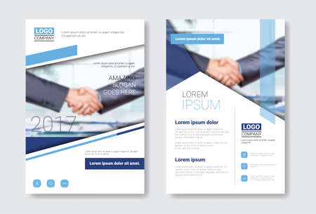 Template Design Brochure Set, Annual Report, Magazine, Poster, Corporate Presentation, Portfolio, Flyer Collection With Copy Space Vector Illustration Ilustração