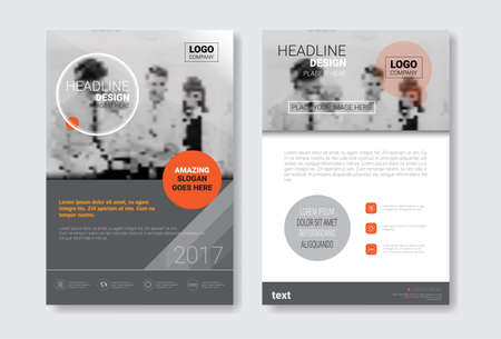 セットのテンプレート デザイン パンフレット、年報、コピー スペース ベクトル イラスト雑誌、ポスター、企業プレゼンテーション、ポートフォリ