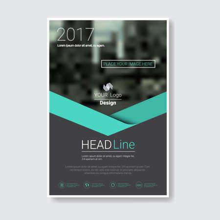 テンプレート デザイン パンフレット、年報、雑誌、ポスター、企業プレゼンテーション、ポートフォリオ、フライヤー コピー スペース ベクトル図