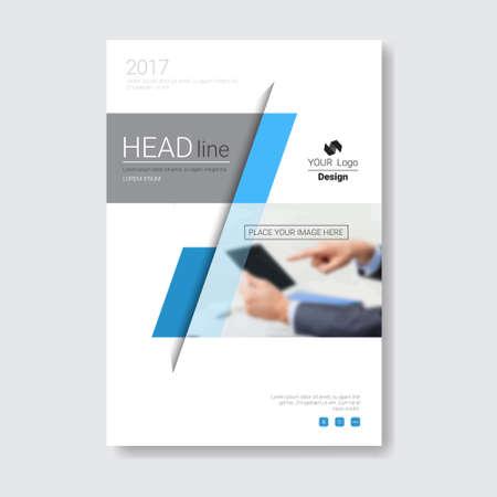Brochure de conception de modèle, rapport annuel, magazine, affiche, présentation de l'entreprise, portefeuille, dépliant avec copie espace vector illustration