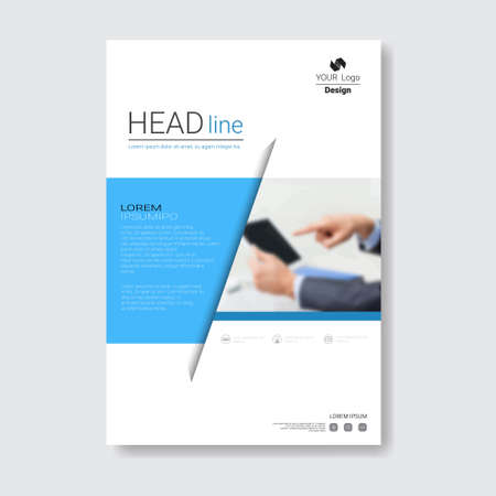 Template Design Brochure, Annual Report, Magazine, Poster, Corporate Presentation, Portfolio, Flyer With Copy Space Vector Illustration Stok Fotoğraf - 80441286