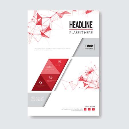 catalog: Template Design Brochure, Annual Report, Magazine, Poster, Corporate Presentation, Portfolio, Flyer With Copy Space Vector Illustration