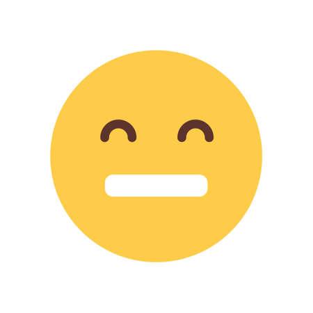 Yellow Cartoon Face Sad Upset Emoji People Emotion Icon Flat Vector Illustration