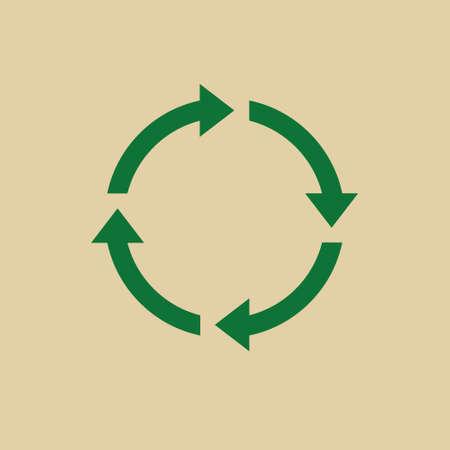 abstract recycle arrows: Recycle Symbol Green Arrows Logo Web Icon Vector Illustration