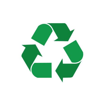 リサイクル シンボル緑の矢印ロゴ Web アイコン ベクトル図