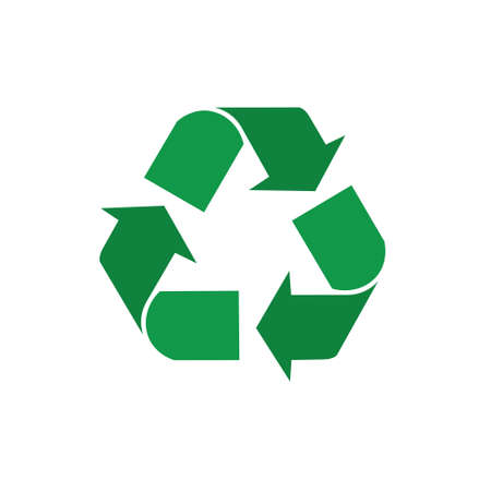 Recycle Symbol Green Arrows Logo Web Icon Vector Illustration Imagens - 81228410
