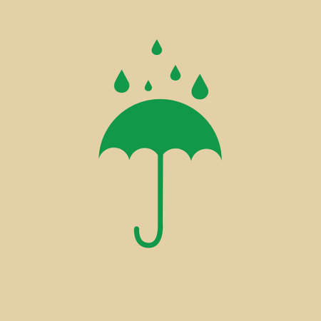 Umbrella Packaging Symbol No Water Sign Icon Vector Illustration