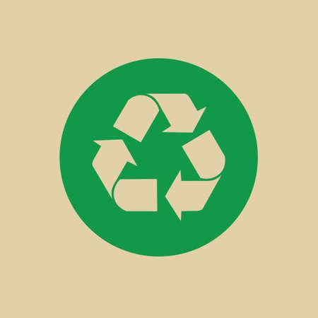 Recycle Symbol Green Arrows Logo Web Icon Vector Illustration