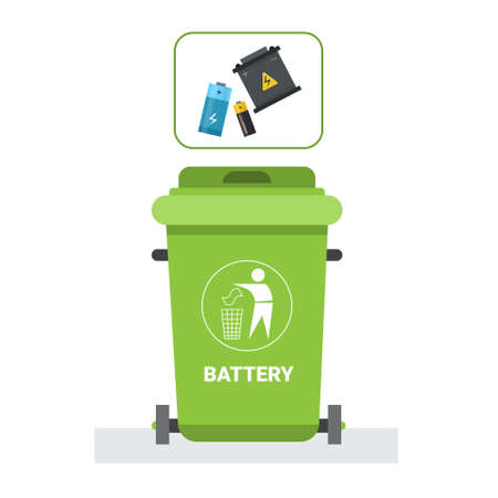 Rubbish Container For Plastic Waste Icon Recycle Sorting Garbage Concept Logo Vector Illustration